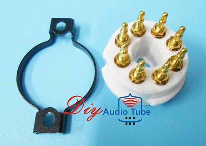 8 Pin Octal Ceramic Tube Sockets Gold Plated Brass Pins For KT88 EL34 GZ34